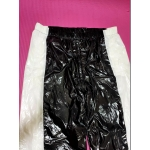 New unisex shiny nylon wet look sport trousers jogging training trousers ST1077