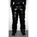 New unisex shiny nylon wet look winter trousers down trousers sport pants S - 3XL