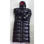 New unisex wet look shiny nylon winter jacket down coat overfilled