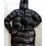 Neu glanz Nylon Wet-Look runder Hand Schlafsack Winterschlafsack