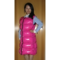 New wet look shiny nylon winter vest dress down vest dress M - 3XL