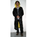 New shiny nylon wet look work coat smock M-3XL
