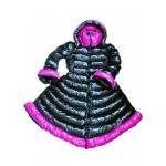 Neu Wet-Look Glanz Nylon Winter Kleid Mantel Daunen Kleiderweste M - 3XL