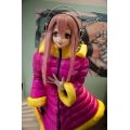 New wet look shiny nylon winter coat down dress cosplay M - 3XL