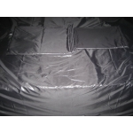 New wet look shiny nylon beddings pillowcase duvet cover fitted sheet