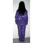 Neu Wet-Look Glänz Nylon Pyjama Schlafanzüge Nachtwäsche maßgeschneiderte M - 3XL