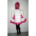Neu Wet-Look Lack Glanz Nylon Daunenkleid Winter Kleid maßgeschneiderte M - 3XL