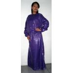 Neu Wet-Look Glanz Nylon kleid maßgeschneiderte M - 3XL