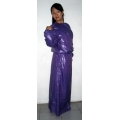 New wet look shiny nylon dress bespoke M - 3XL