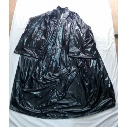 New shiny nylon barber gown wet look hair cape