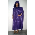 New shiny nylon cloak wet look cape