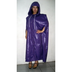 Neu glanz Nylon Umhang Wet-Look Kap