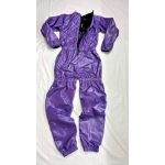 New shiny nylon wet look overalls jumpsuit custom made S - 5XL JS2050