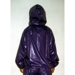 New shiny nylon wet look blouse masked pullover M-XXL