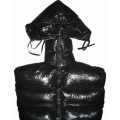 New shiny nylon wet look bondage sleeping bag winter sleeping sack custom made MS1068b