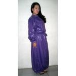 Neu glanz Nylon Wet-Look Kleid maßgeschneiderte M - 3XL DR2098