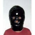 Neu glanz Nylon Wet-Look Lack Maske Daunenmaske Wintermaske unisex MK2201b