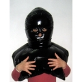 New shiny nylon wet look mask down mask winter mask unisex MK2202b