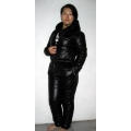 New unisex shiny nylon wet look ski overalls ski suit sport suit bespoke S - 5XL