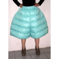 New shiny nylon wet look puffer culottes palazzo pants custom made