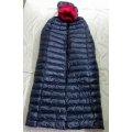 New silky shiny polyester down cloak winter cape