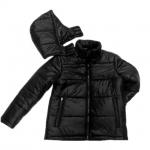 Neu glänzend Nylon Winterjacke Wattierte Jacke