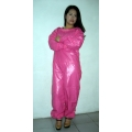 New shiny nylon wet look overalls jumpsuit custom made S - 5XL