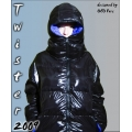 New glossy nylon down jacket winter jacket size XL blue