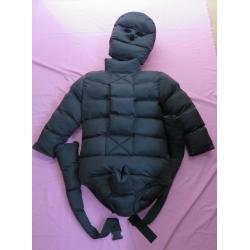 New matte nylon winter straitjacket down restraint diaper suit M - 3XL
