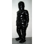 New unisex puffy shiny nylon winter overalls wet look down suit custom made