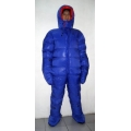 New unisex puffer shiny nylon duck down down suit wet look down overalls custom made