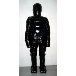 New unisex puffa shiny nylon winter overalls wet look down suit custom made