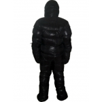 New unisex puffa shiny nylon duck down down suit wet look down overall custom made