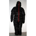 New unisex puffer shiny nylon duck down down suit wet look down overall custom made
