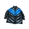 New unisex shiny nylon quilted winter coat wet look puffy big down coat oversized