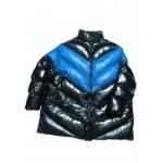 Neu unisex Wet-Look Glanz Nylon Puffa Wintermantel groß Daunen Mantel Steppmantel Übermaß