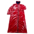 New unisex wet look coated shiny nylon coat raincoat M-3XL