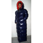 New unisex wet look shiny nylon winter coat down coat down sleeping sack winter sleeping bag