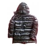 New unisex wet look shiny nylon down jacket down parka