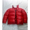 New unisex wet look shiny nylon winter jacket down jacket overfilled