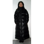 Neu Wet-Look Glanz Nylon Puffa Wintermantel Daunenmantel Bubble Stepp Mantel M - 3XL