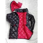 New unisex shiny nylon winter jacket wet look down jacket diamond quilting