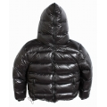 New unisex glossy nylon padded winter jacket wet look puffer down jacket DJ1094h