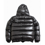 Neu unisex glanz Nylon Stepp Winter Jacke Wet-Look Puffer Daunenjacke DJ1094h