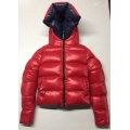 New unisex glossy nylon wet look winter jacket down jacket double-sided wear
