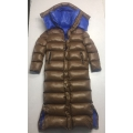 New unisex shiny nylon winter parka down parka wet look winter coat down coat overfilled DC3019