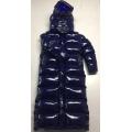 New unisex shiny nylon winter parka down parka wet look winter coat down coat overfilled DC3019-1S