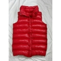 New unisex shiny nylon quilted winter vest wet look puffer down waistcoat