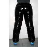 New unisex shiny nylon wet look puffer trousers sport trousers ski pants S - 3XL